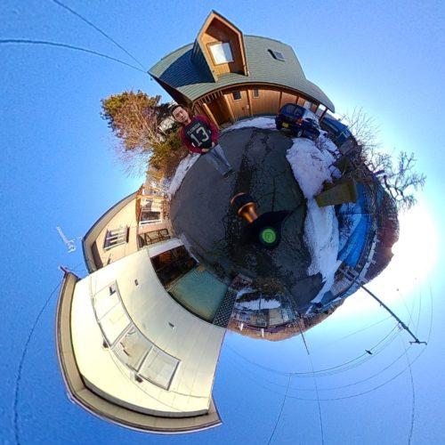 360度カメラを使って地球みたいな写真を撮ってみた。