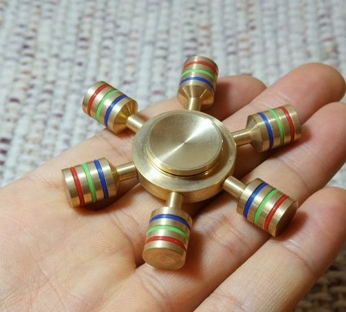 【ハンドスピナー】銅金属で作られたすっごーい!回転する大人のおもちゃ